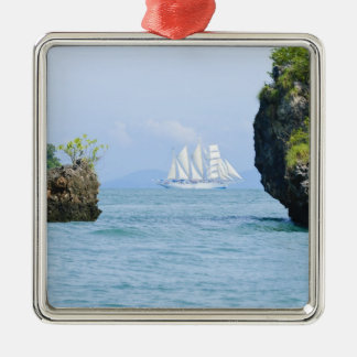 Thailand, Andaman Sea. Star Fyer clipper ship 2 Silver-Colored Square Decoration