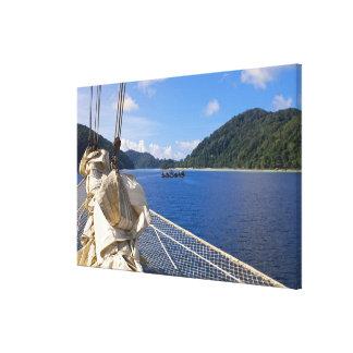 Thailand, Andaman Sea. Star Fyer clipper ship Gallery Wrap Canvas