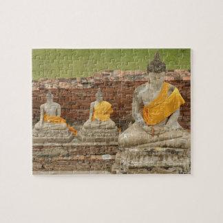 Thailand, Ayutthaya. Statues of sitting buddhas Jigsaw Puzzle