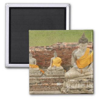 Thailand Ayutthaya Statues of sitting buddhas Magnets