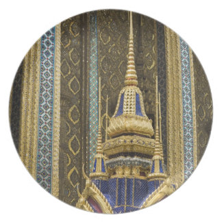 Thailand, Bangkok. Details of ornately decorated Dinner Plates