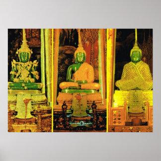 Thailand, Bangkok, Emerald Buddha Poster