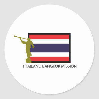 THAILAND BANGKOK MISSION LDS CTR CLASSIC ROUND STICKER