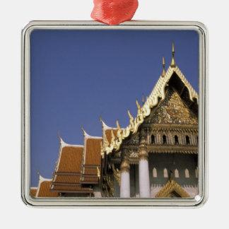 Thailand, Bangkok. Morning sun reflects off the Christmas Ornament