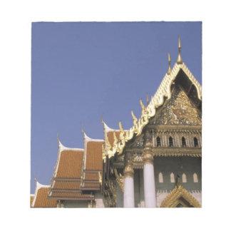 Thailand, Bangkok. Morning sun reflects off the Notepads