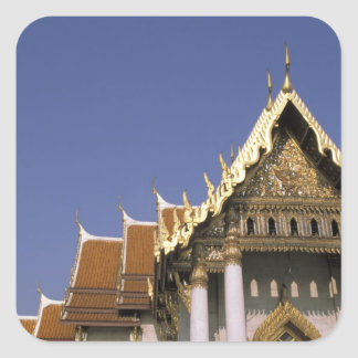 Thailand, Bangkok. Morning sun reflects off the Square Sticker