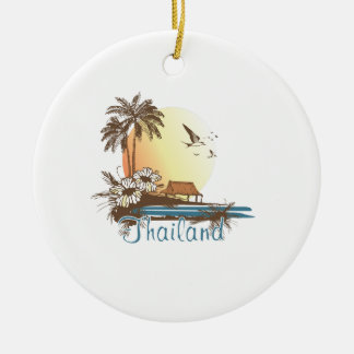 Thailand Beach Hut Christmas Ornament