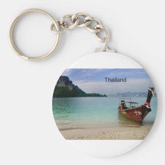 Thailand beach in Krabi (St.K) Basic Round Button Key Ring