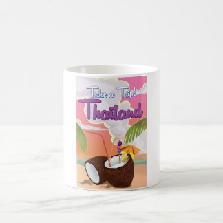 Thailand beach vacation poster coffee mug
