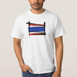 Thailand Brush Flag T-Shirt