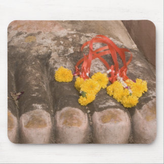 Thailand, Buddha's feet and Marigold offering Mouse Mat