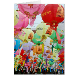 Thailand Buddhist Temple Celebration Card