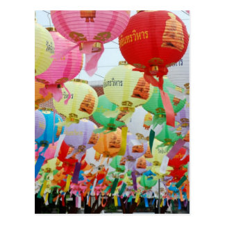 Thailand Buddhist Temple Celebration Postcard