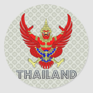 Thailand Coat of Arms Classic Round Sticker