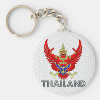 Thailand Coat of Arms Key Ring