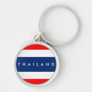 Thailand country flag nation symbol name text key ring
