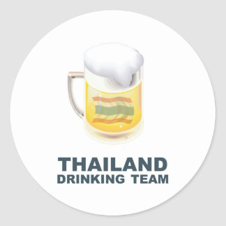 Thailand Drinking Team Classic Round Sticker