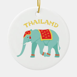 Thailand Elephant Christmas Ornament