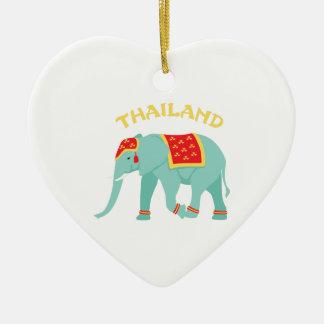 Thailand Elephant Christmas Ornament