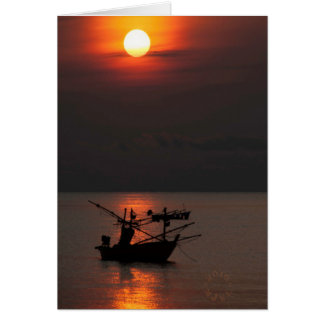Thailand Fishing Village card. Card