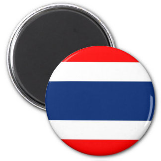Thailand flag 6 cm round magnet