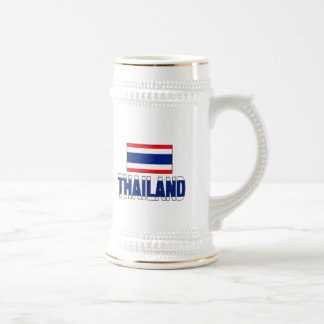 Thailand flag beer steins