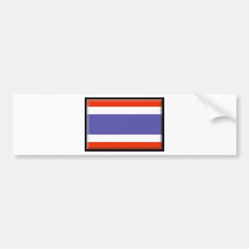 Thailand Flag Bumper Stickers