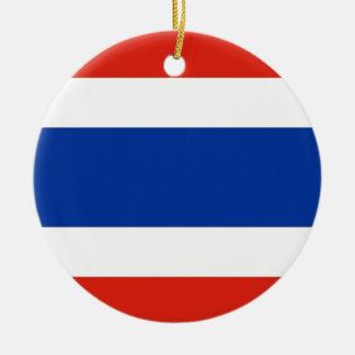 Thailand Flag Christmas Ornament