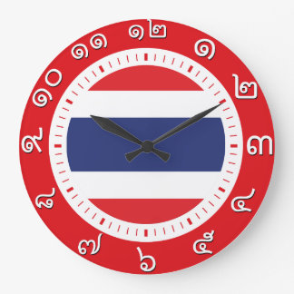 Thailand Flag Clock ( Number in Thai numerals )