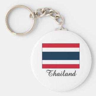 Thailand Flag Design Key Ring
