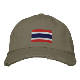 Thailand flag embroidered chino twill cap