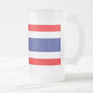 Thailand Flag Frosted Glass Mug