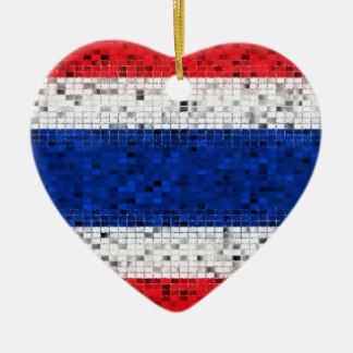 Thailand Flag glitter ornament