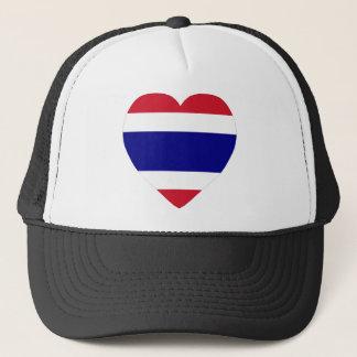 Thailand Flag Heart Trucker Hat