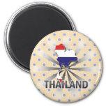 Thailand Flag Map 2.0 Magnet