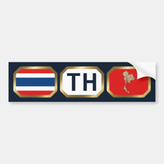 Thailand Flag Map Code Bumper Sticker