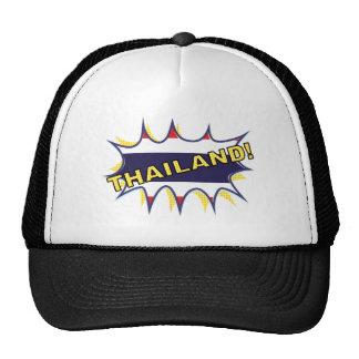 Thailand flag POW star burst Trucker Hat