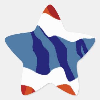 thailand flag star sticker