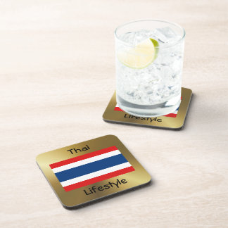 Thailand Flag+Text Coaster