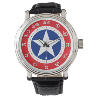 Thailand Flag Watch ( Number in Thai numerals )