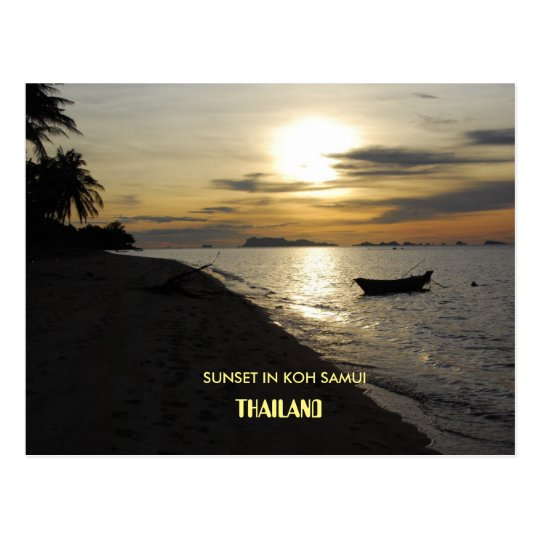 Thailand floating market postcard