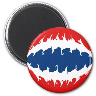 Thailand Gnarly Flag 6 Cm Round Magnet