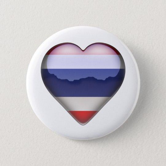 Thailand Heart 6 Cm Round Badge