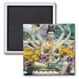 Thailand, Ko Samui aka Koh Samui). Wat Plai 2 Square Magnet