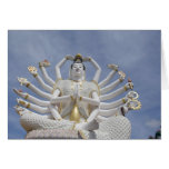 Thailand, Ko Samui aka Koh Samui). Wat Plai 3 Greeting Card