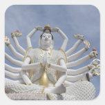 Thailand, Ko Samui aka Koh Samui). Wat Plai 3 Square Sticker