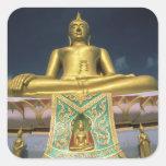 Thailand, Koh Samui Island. Big Buddha. Square Stickers
