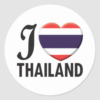 Thailand Love Classic Round Sticker