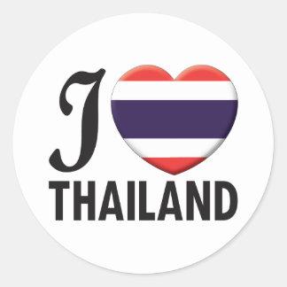 Thailand Love Round Sticker