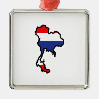 THAILAND MAP FLAG CHRISTMAS ORNAMENT